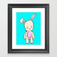 A Tiny Bunny Framed Art Print
