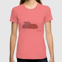 Sleepy Womens Fitted Tee Pomegranate SMALL