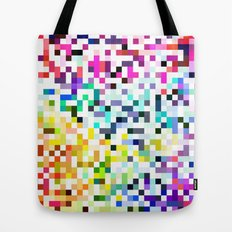 Pixelated No.1 Tote Bag