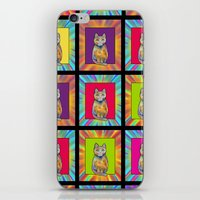 CHESSBOARD CUTE CAT CHECKERBOARD iPhone & iPod Skin