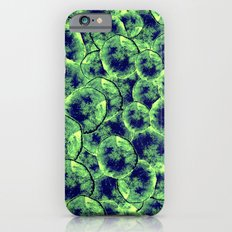 Lime & Navy Watercolor Cells Slim Case iPhone 6s