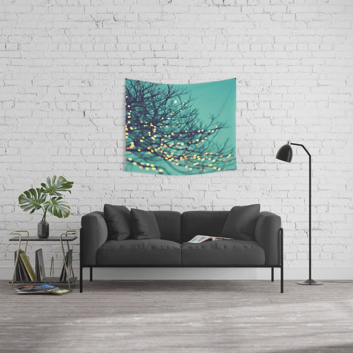 Twin Wall Lights With Pull Cord : twinkle lights Wall Tapestry by Sylvia Cook Photography Society6