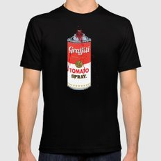 Graffiti Tomato Spray Can SMALL Black Mens Fitted Tee