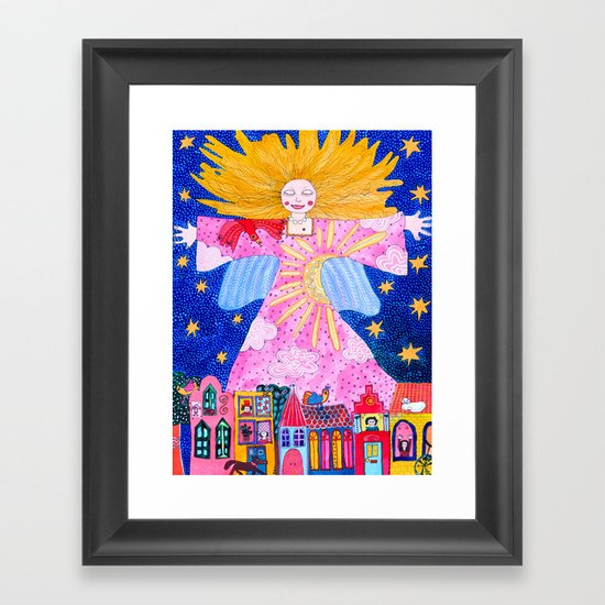 The Guardian Angel Framed Art Print By Kiki Suarez Society6