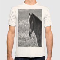 Pony on Exmoor Mens Fitted Tee Natural SMALL