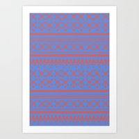 Art Print featuring Christmas Jumper 9 by PintoQuiff
