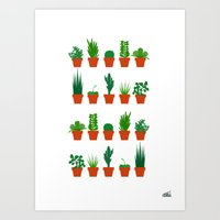 Small Plants Art Print