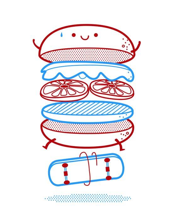 Street burger  Canvas Print