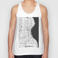 Milwaukee Map Gray Unisex Tank Top