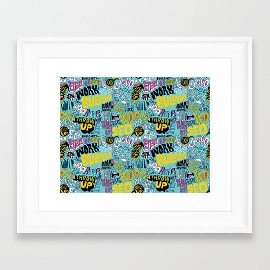 SEO Pattern Framed Art Print