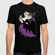Grimhilde & Maleficent S… Mens Fitted Tee Black SMALL