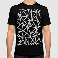 Ab Blocks Grey #2 Mens Fitted Tee Black SMALL