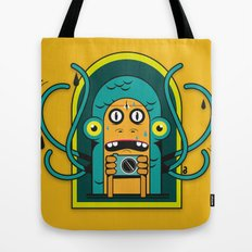 Danger at the moment of the click Tote Bag