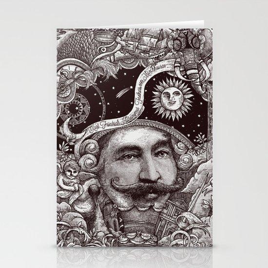 Baron von Munchausen Stationery Card