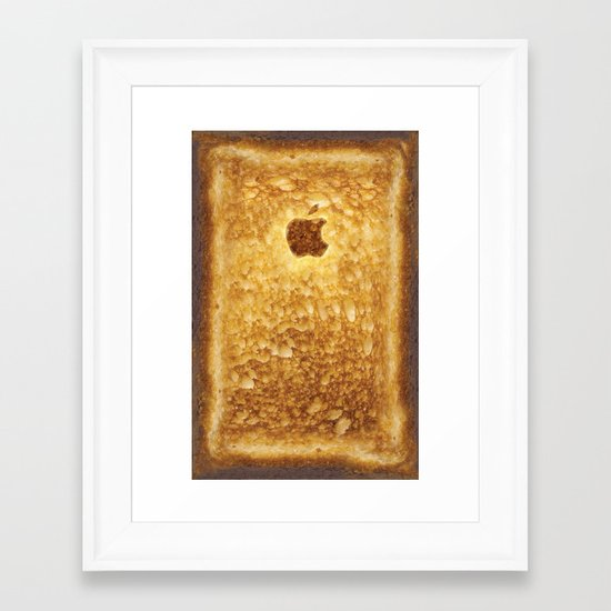 Toasted Framed Art Print