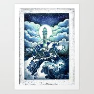 Art Print featuring Even In The Darkest Nigh… by Marine Loup