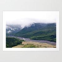 Mount St. Helen's River Art Print