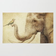 A New Friend (sepia drawing) Rug