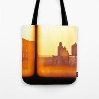 Fire Outside The Window Tote Bag