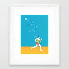 Plug yourself out Framed Art Print