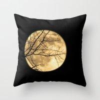 Shadows on the Moon Throw Pillow