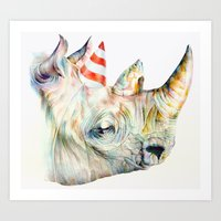 Rhino's Party Art Print