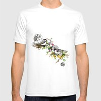 Two Birds Mens Fitted Tee White SMALL
