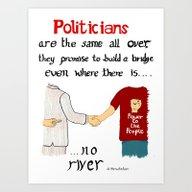 Politicians In Quotes Art Print