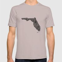 Typographic Florida Mens Fitted Tee Cinder SMALL