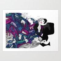 Lady G. Art Print
