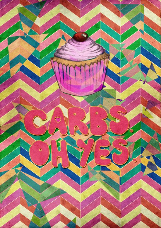 Carbs. Oh yes.  Art Print