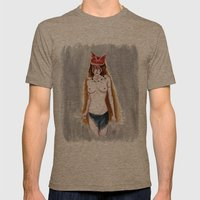 The Wolf Princess Mens Fitted Tee Tri-Coffee SMALL
