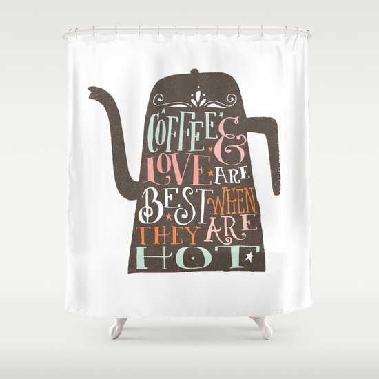 COFFE & LOVE Shower Curtain
