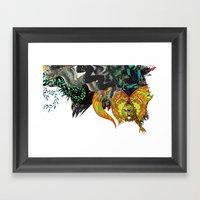 Approaching Storm - Deta… Framed Art Print