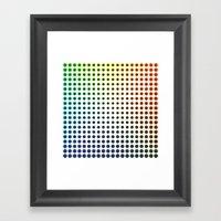 Colour Spots Framed Art Print