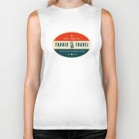 Tardis Travel - Fantasy Travel Logo Biker Tank