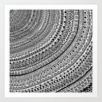 Black Pulse o1. Art Print