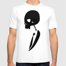 Party Skull Mens Fitted Tee White SMALL