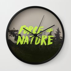 Force Of Nature X Cloud … Wall Clock