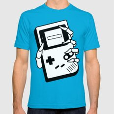 GAMING IS FOREVER Mens Fitted Tee Teal SMALL