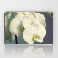 White orchids Laptop & iPad Skin