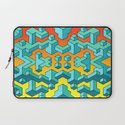 Miles and Miles of Squares Laptop Sleeve