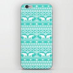 Elephant Tribal Mint iPhone & iPod Skin