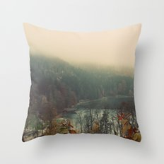 Overlooking the Lake Color Photo Nature Trees Throw Pillow