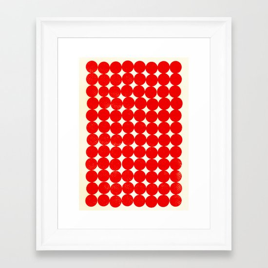 Unity Red Framed Art Print