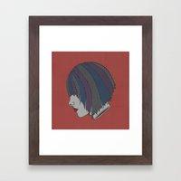 Heads Will Roll (Red) Framed Art Print