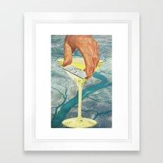 Drop the Sink & Fix Me a Drink Framed Art Print