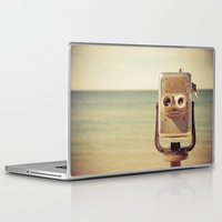 robot Laptop & iPad Skins featuring Robot Head by Olivia Joy StClaire