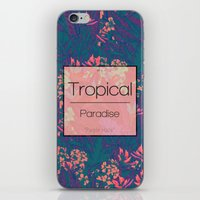 Tropical Paradise: Purple Haze iPhone & iPod Skin