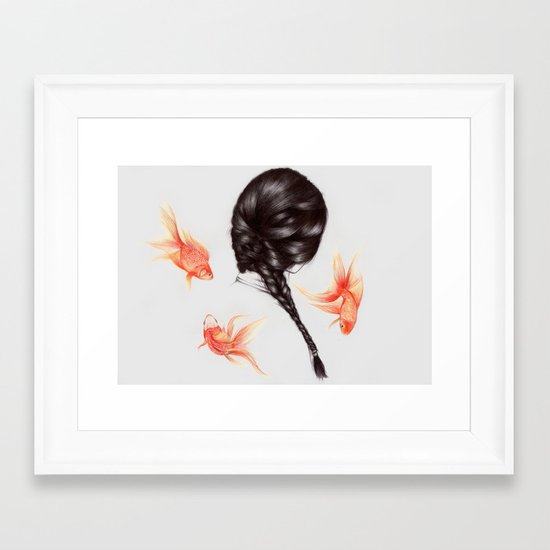 Hair Sequel  Framed Art Print